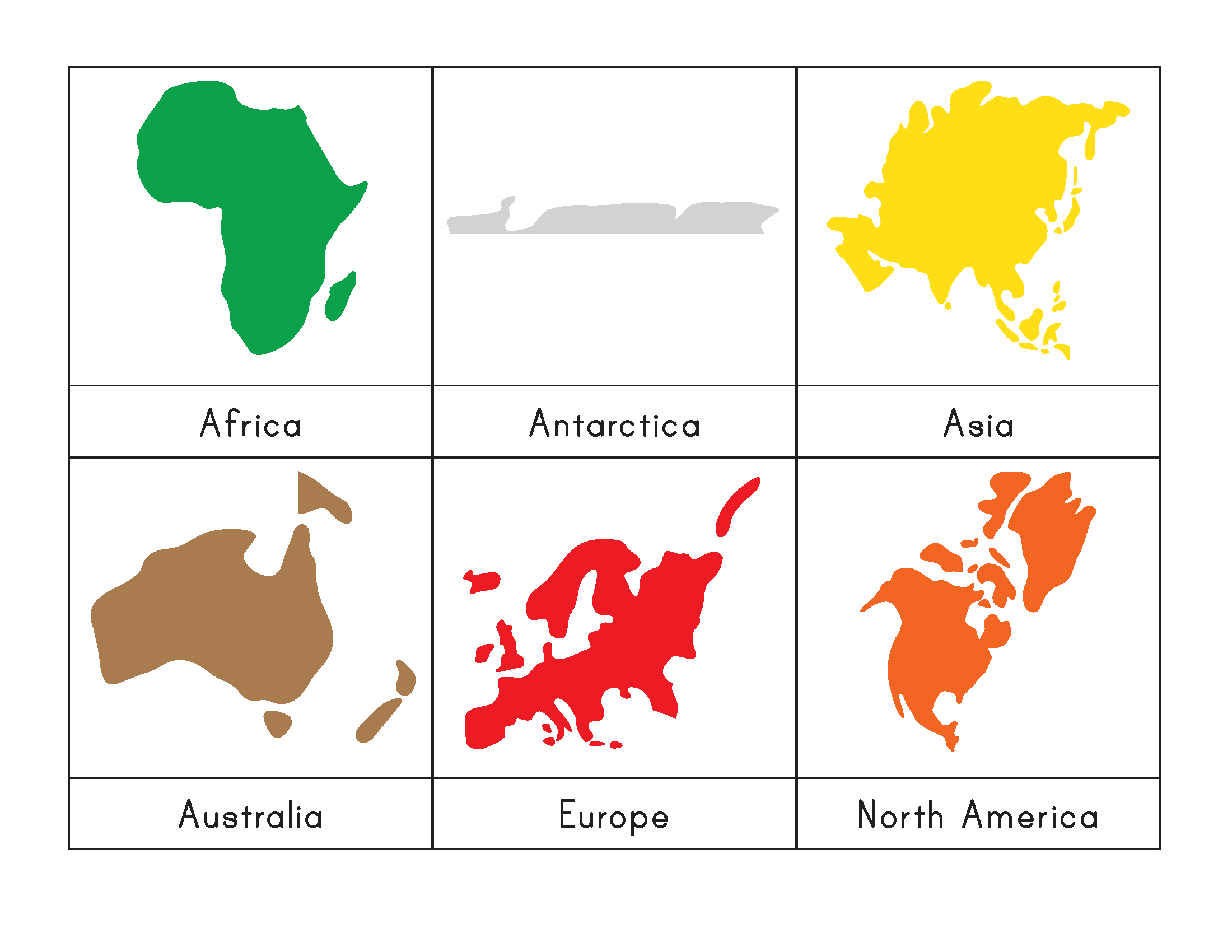 Montessori World Map Free Printable
