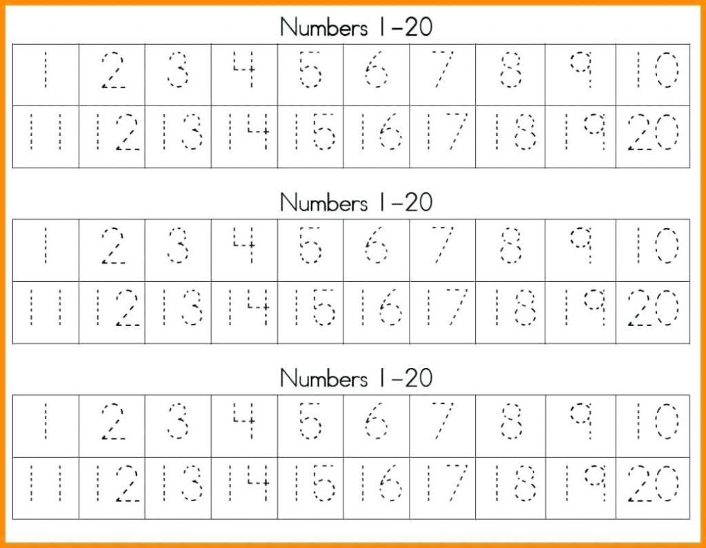 Trace Numbers 1 20 Belesub