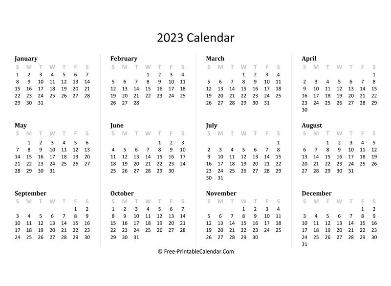The internal revenue service recognizes two types of tax years for businesses that are filing income tax returns: 2023 Yearly Calendar