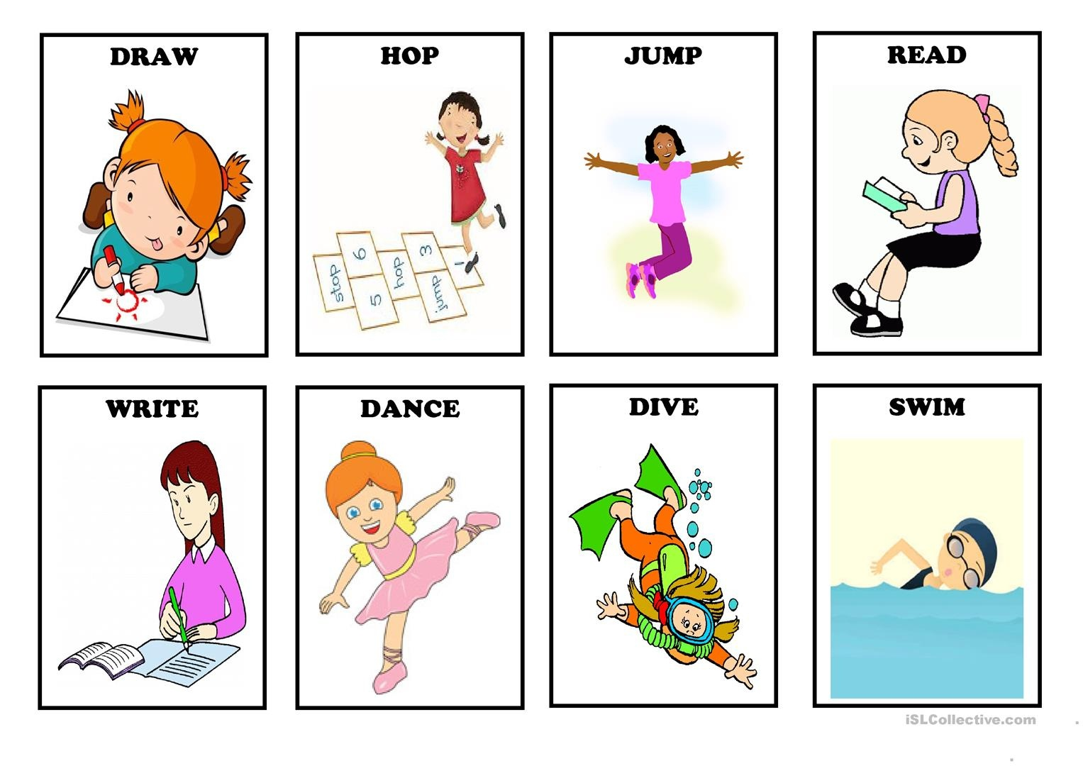 Free Printable Spanish Verb Flashcards