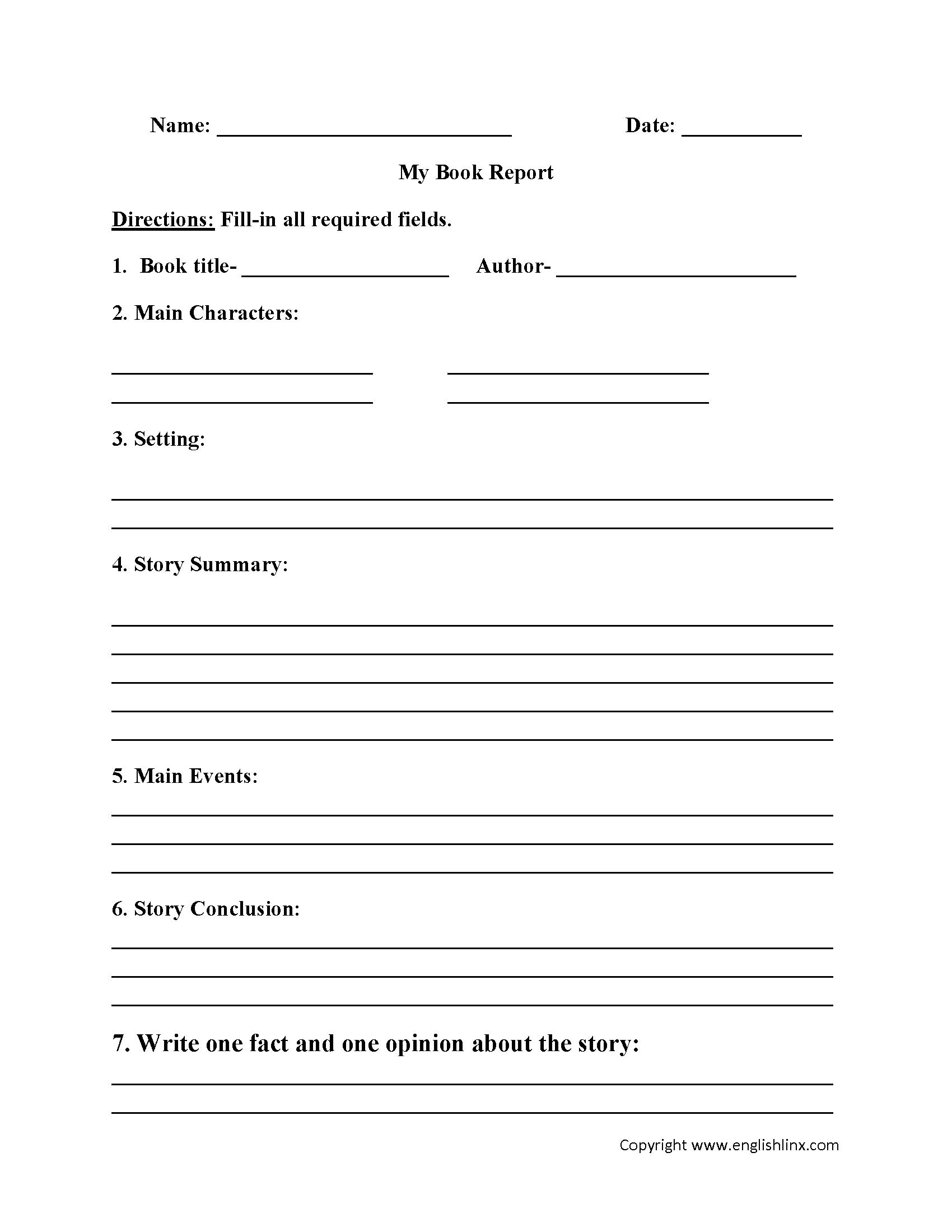 Free Printable Story Books For Grade 2