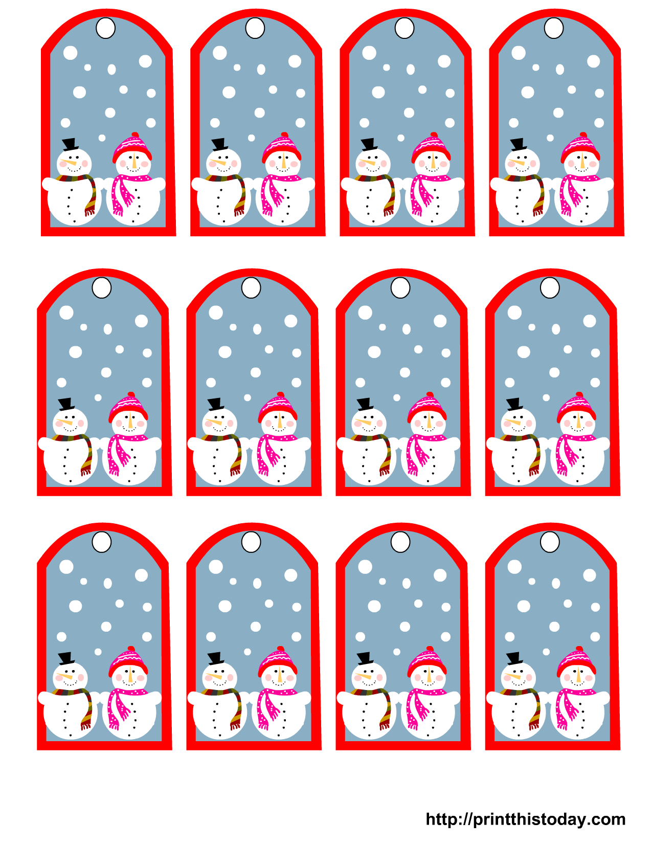 Free Printable Snowman Stationery
