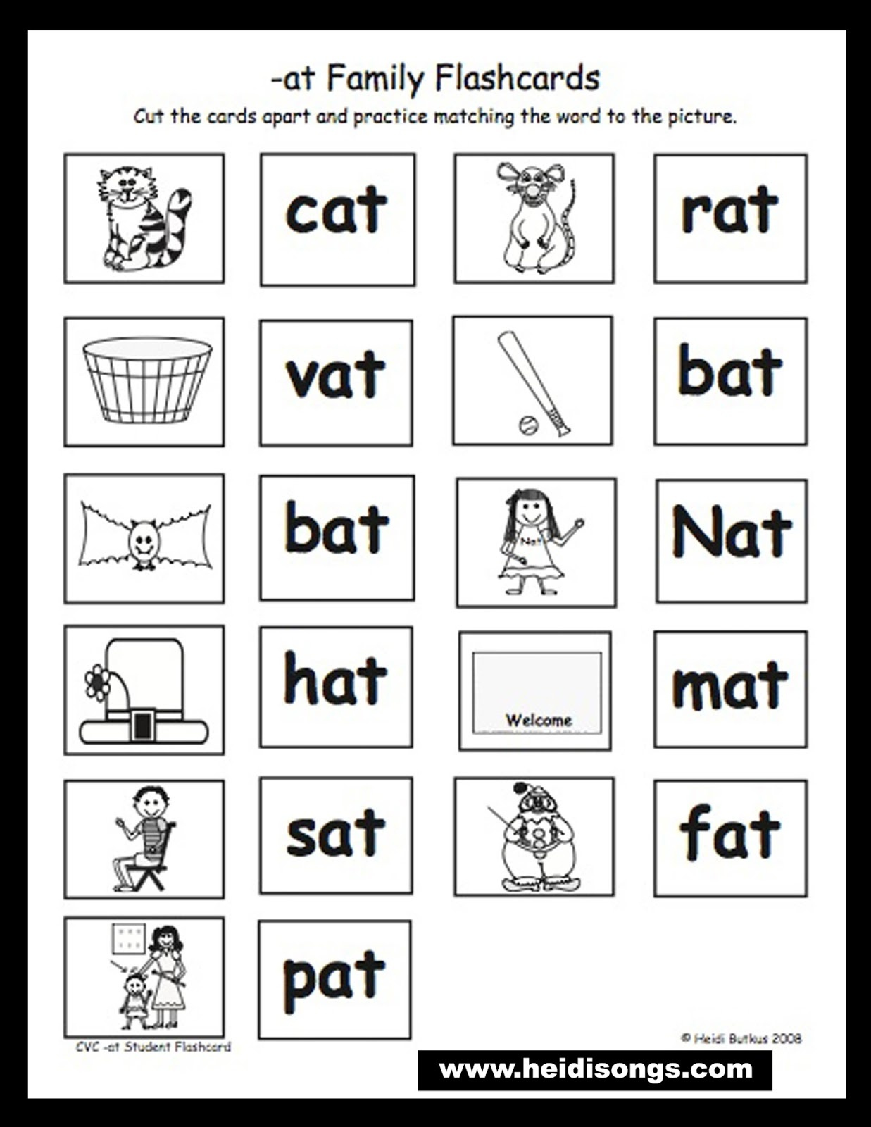 Free Printable Rhyming Words Flash Cards