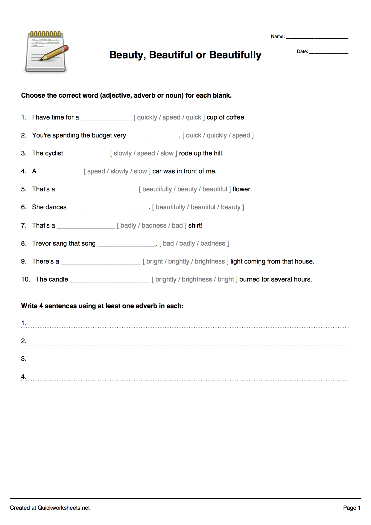 Free Printable Multiple Choice Spelling Test Maker