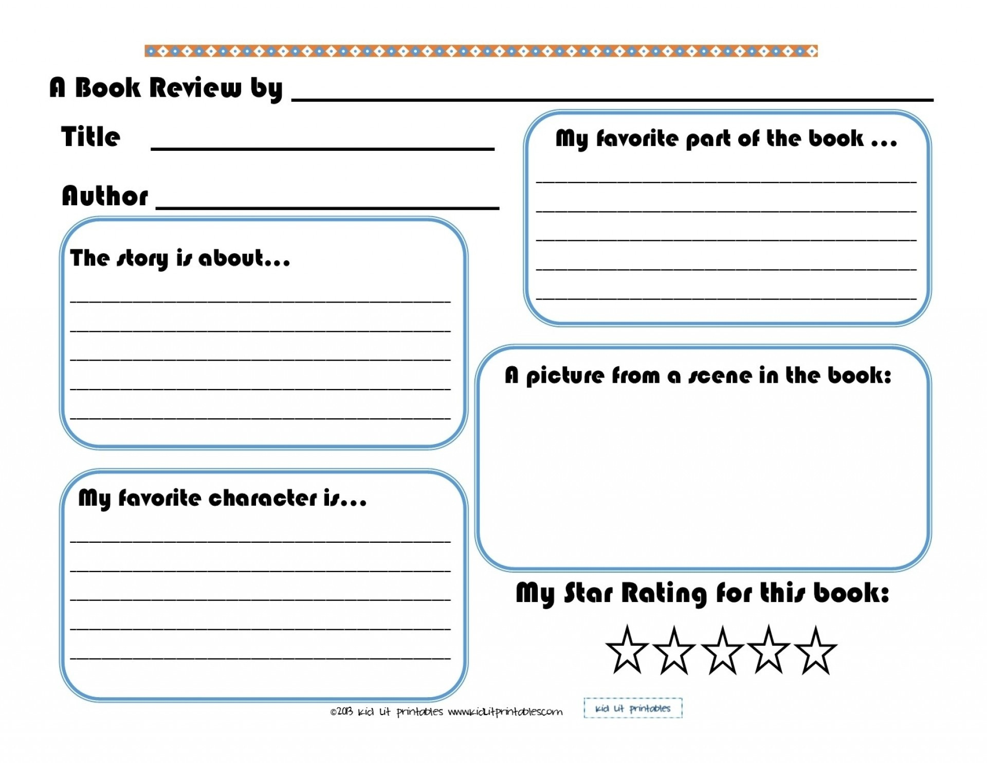 Free Printable Book Report Forms For Elementary Students
