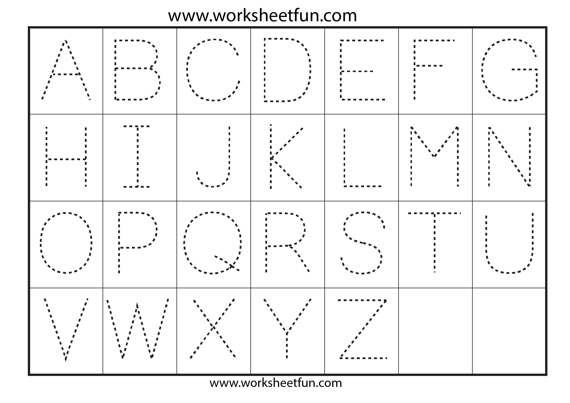 Free Printable Alphabet Tracing Worksheets