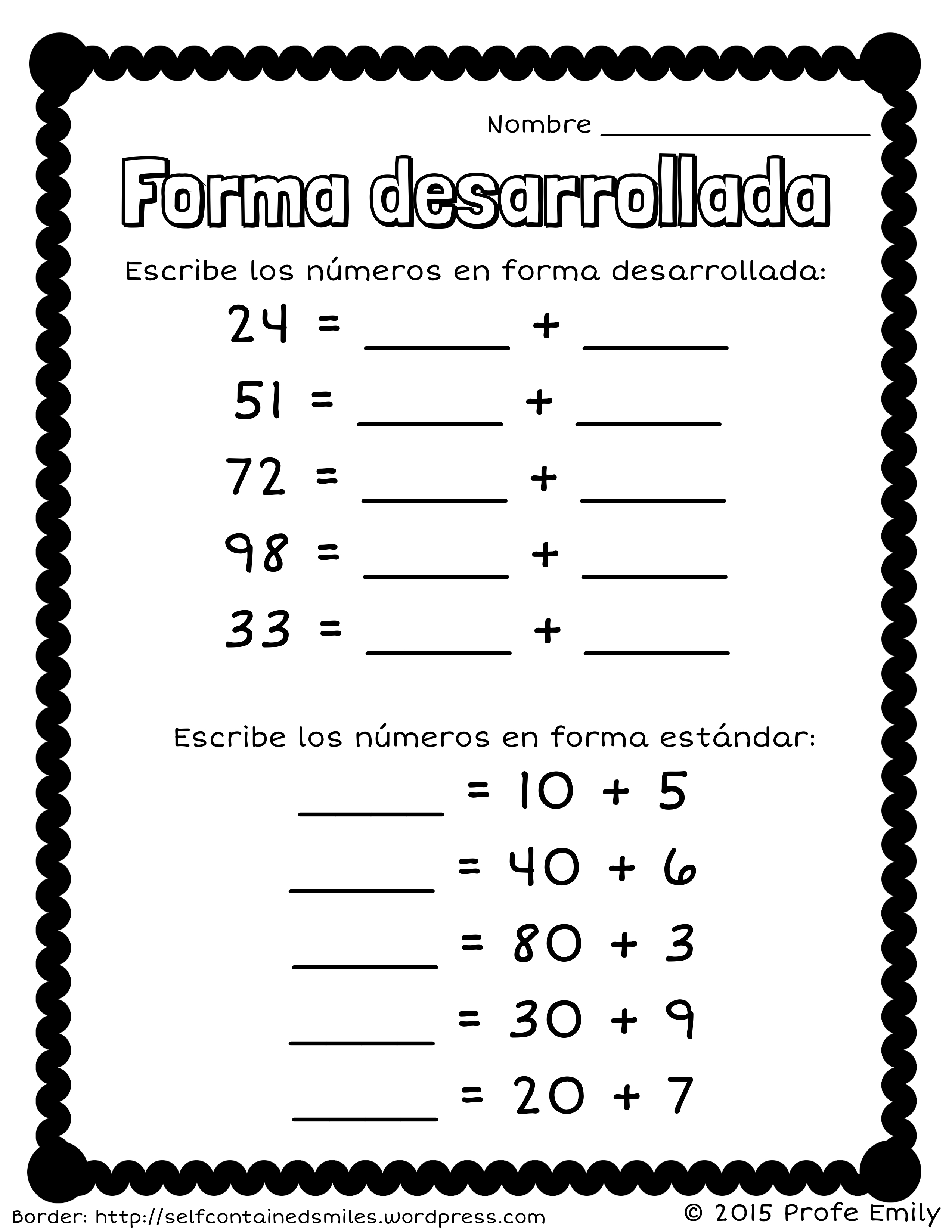 Free Printable Place Value Chart In Spanish