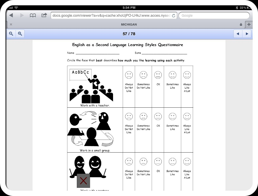 Free Learning Style Inventory For Students Printable