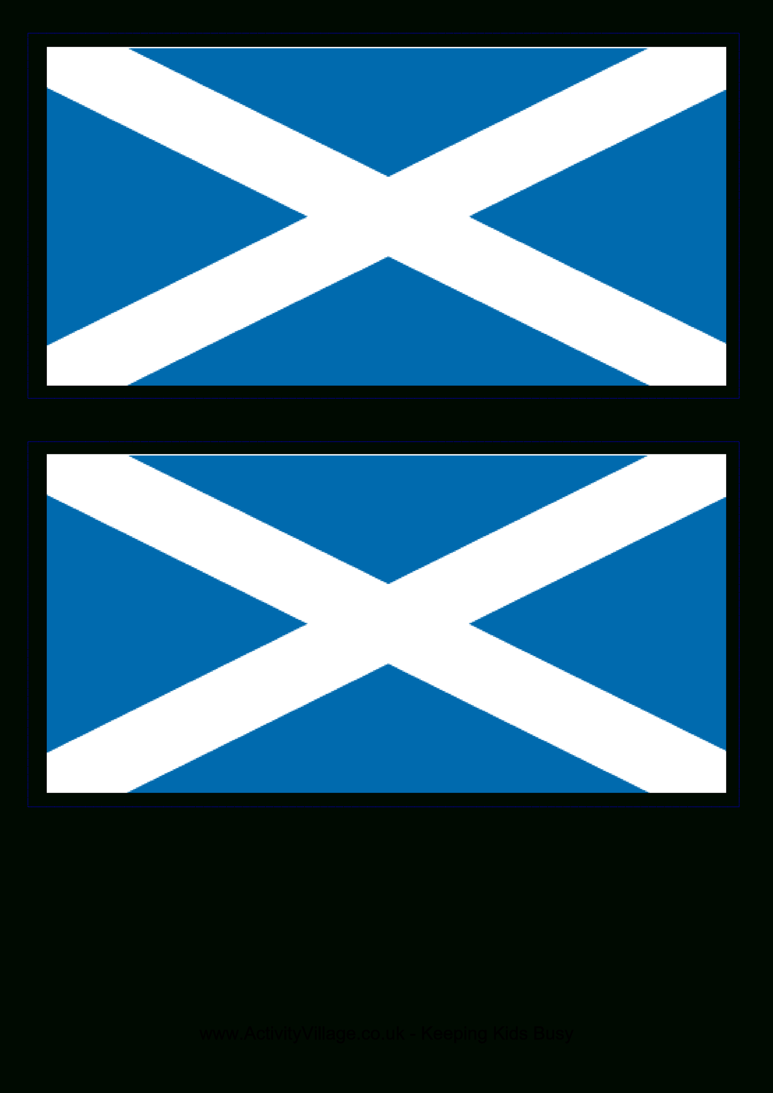 Printable Scotland Flag Coloring Worksheet