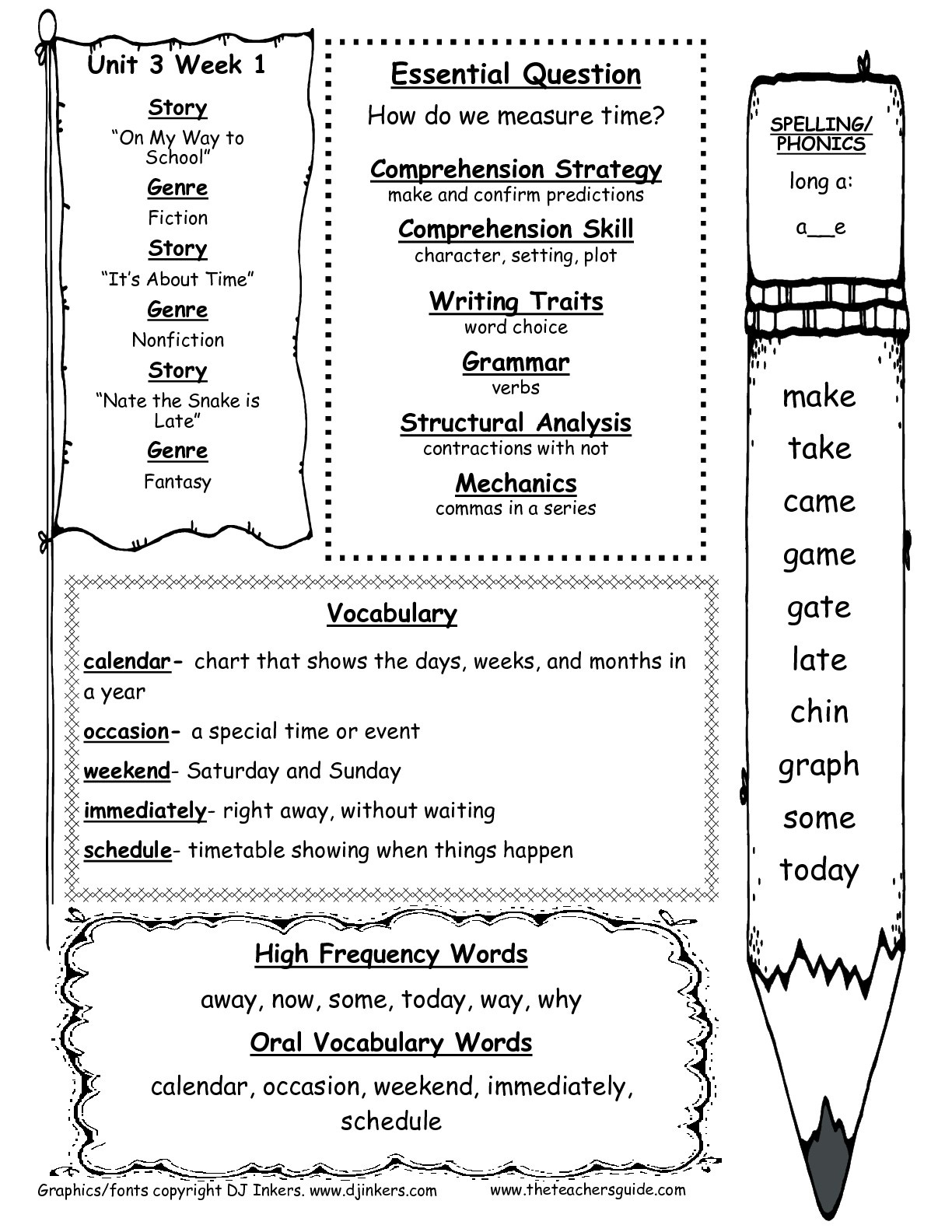 First Grade Reading Worksheets Free Sequencing Math And