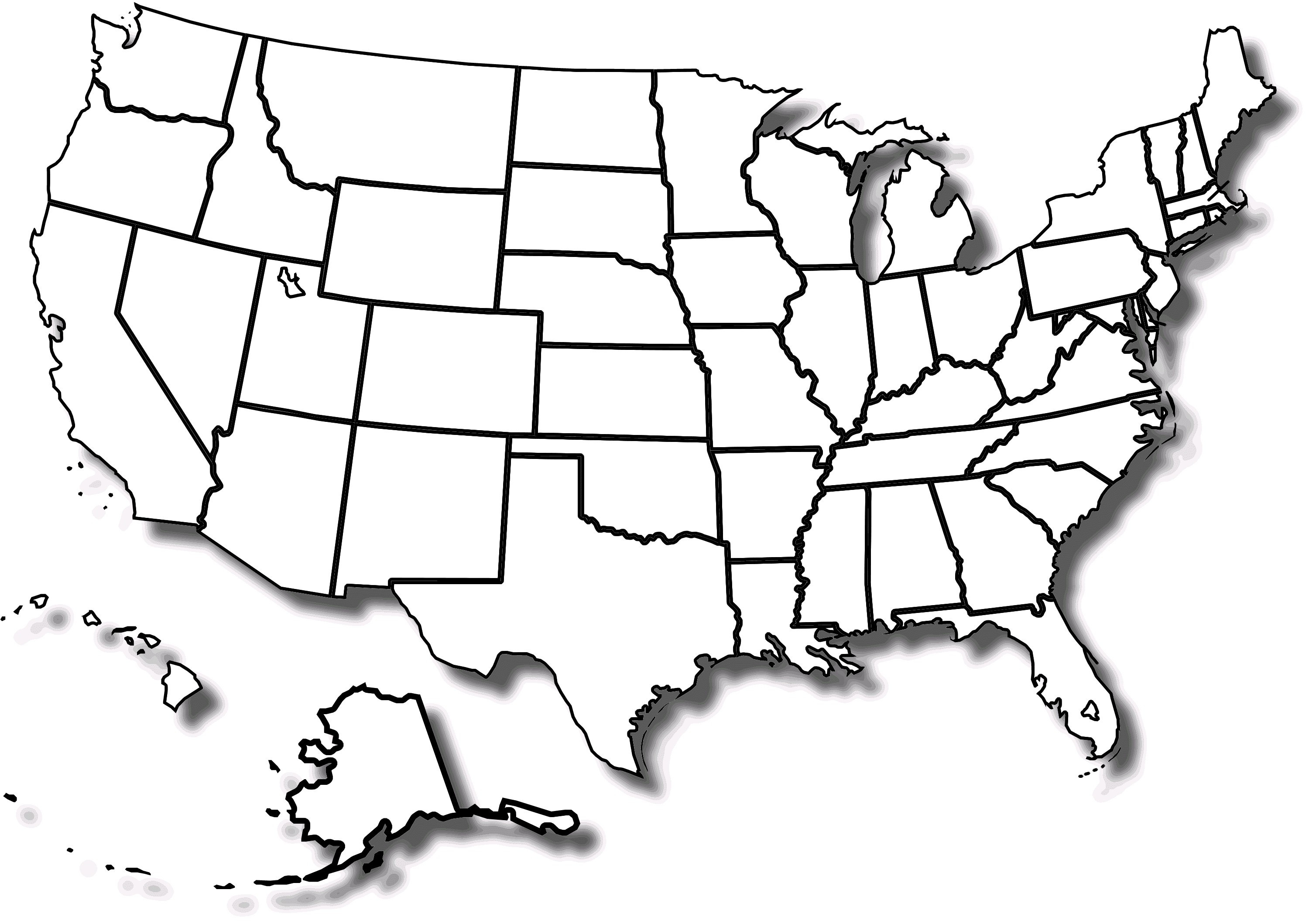 10 Elegant Printable Blank Map Of The United States