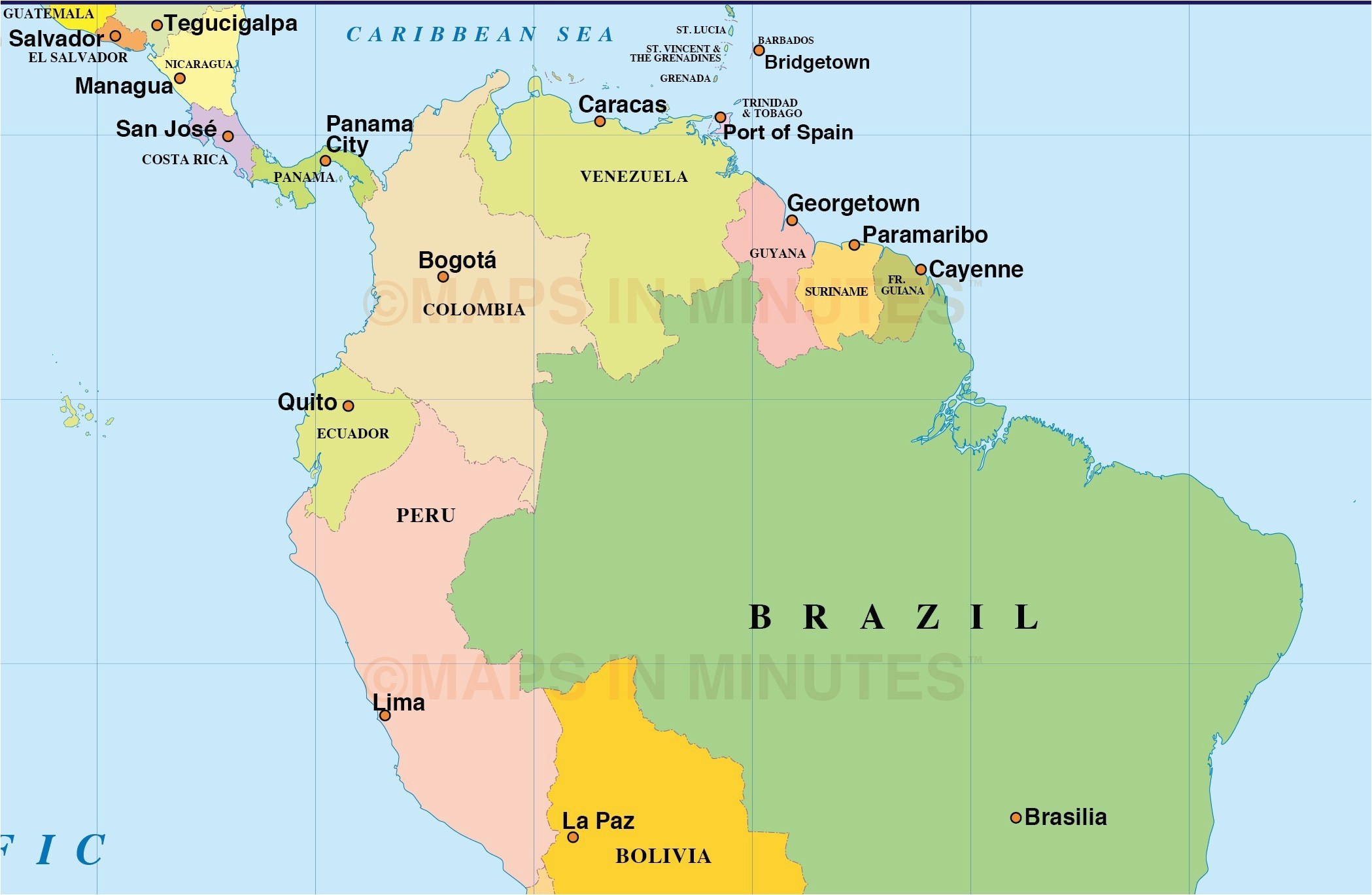 10 Best Of Printable Map Costa Rica