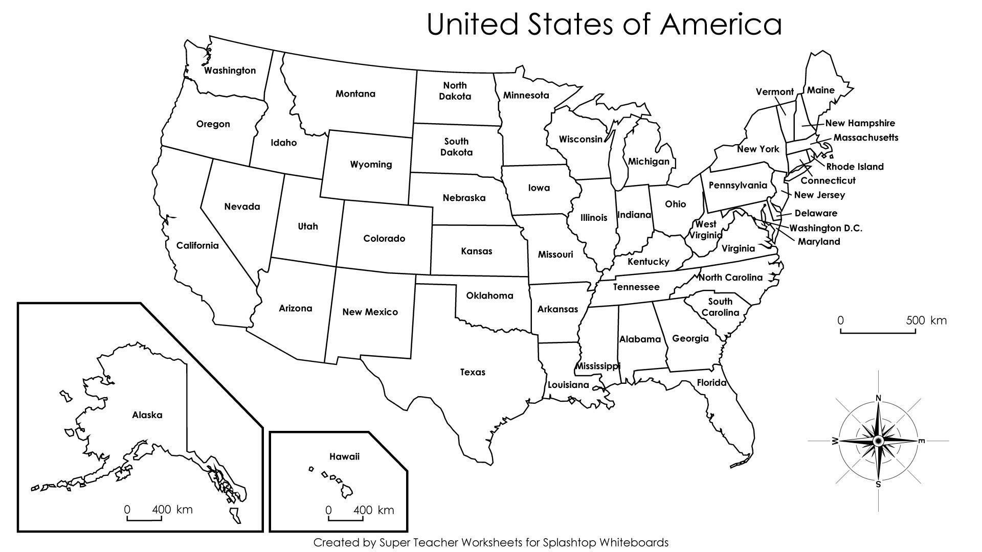 10 Inspirational Printable Map Of United States Not