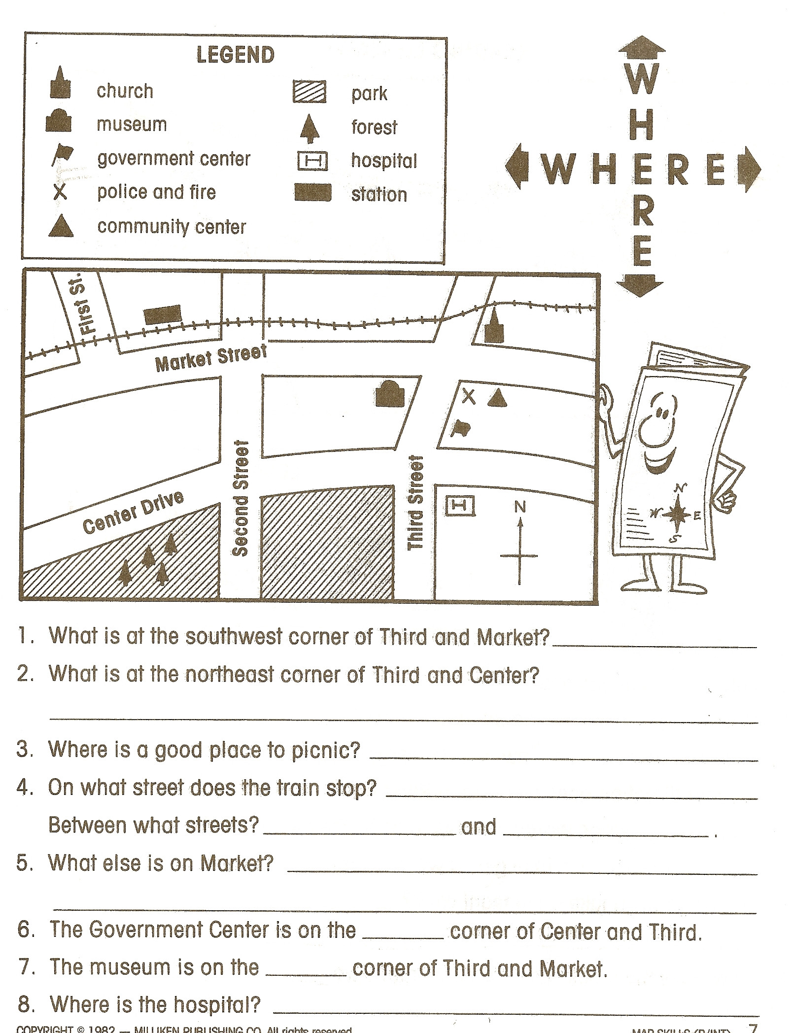 Printable Map Skills Worksheets For 4th Grade