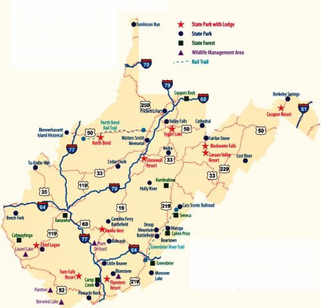 West Virginia State Parks Map
