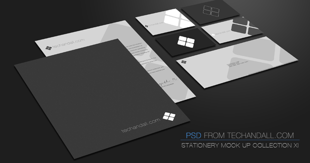30 Recognizable Free PSD Stationery MockUps Free PSD Templates