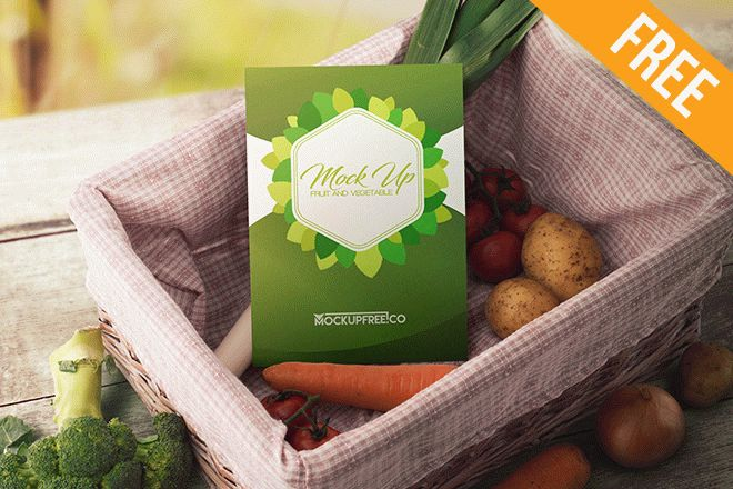 You can place your design on box lid and also on tissue paper. Fruit And Vegetable 20 Free Psd Mockups Free Psd Templates