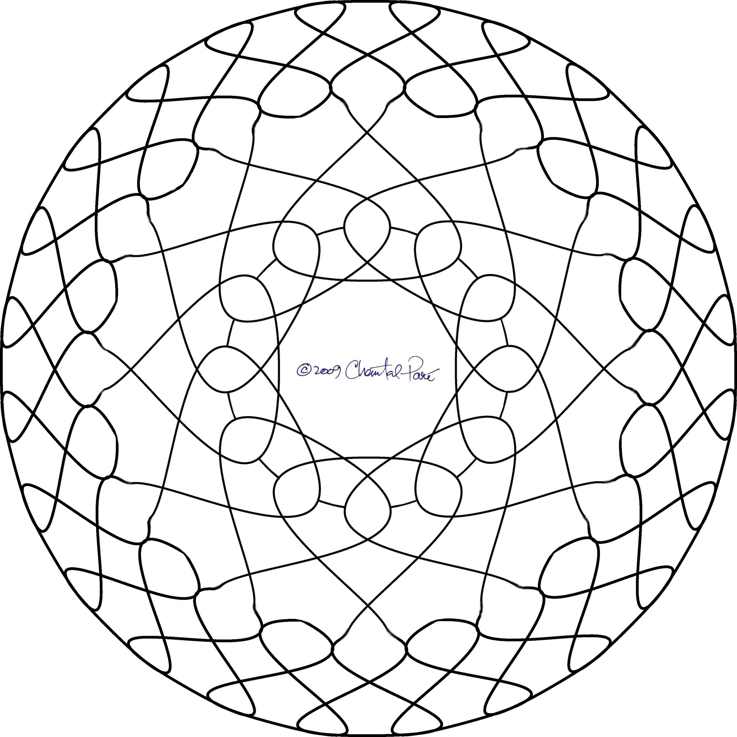 Warp Speed Stained Glass Pattern