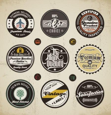 Various-elements-Vintage-labels-vector-01-450x466
