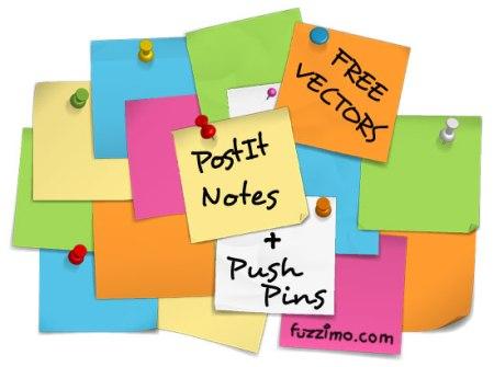 free-vector-post-it-notes-push-pins-450x335