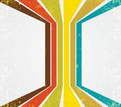 Retro Grunge Stripes Background Design