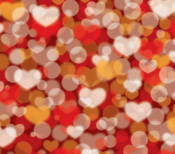 Abstract Valentines Defocus Background Vector