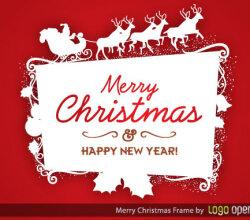 Christmas Logo Frame Vector Free