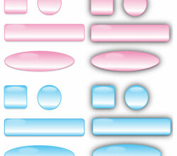 Glass Buttons and Bars Vector Free