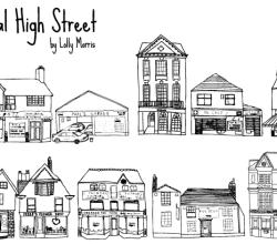 Free Hand Drawn High Street Shops Vector Art