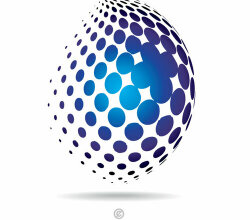 Halftone pattern logo design