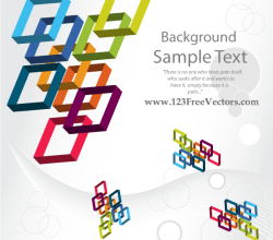 3D Colorful Square Vector Background