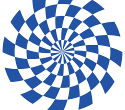 Free Optical Illusion Vector Blue Graphics