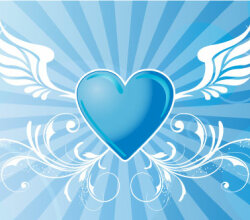 Vector Winged Heart Background