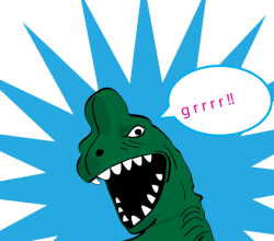 Vector Cartoon T Rex