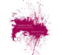 Pink Paint Splatter Background