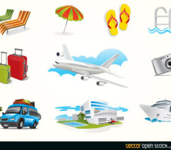 Vector Holiday Travel Elements