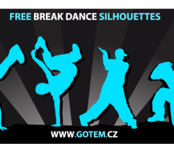 Free Breakdance Silhouettes Vector Art