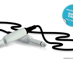 3D Guitar Cable Vector Illustration