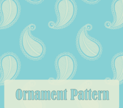 Vector Paisley Ornament Pattern Design