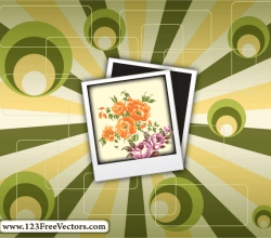 Polaroid On Retro Background Vector