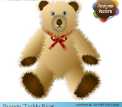 Free Teddy Bear Vector Illustration