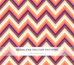 Retro Zig Zag Chevron Pattern Vector