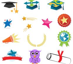 Graduation Vector Icons