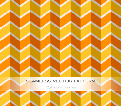 Orange Yellow Seamless Zigzag Pattern Vector