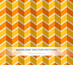 Orange Yellow Seamless Zigzag Pattern Vector