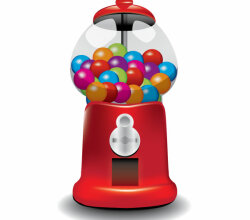 Vector Gumball Machine Illustration