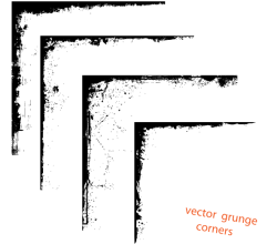 Vector Grunge Corner Designs Free Graphics