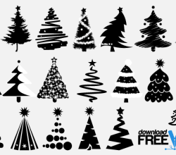 Christmas Tree Vector Silhouettes