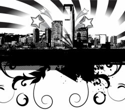 Free City Skyline Vector
