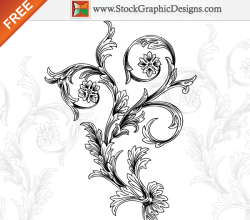 Free Hand Drawn Decorative Floral Vector